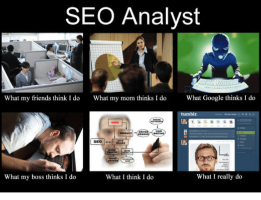 seo analyst - misconceptions about the work
